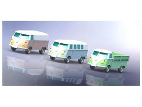 VW Transporter Type 1 Z-Scale 1/220 in Smooth Fine Detail Plastic