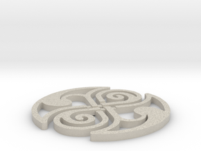Celtic Knot Coaster in Sandstone