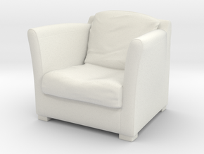 1:10 Scale Model  - ArmChair 04 in White Natural Versatile Plastic