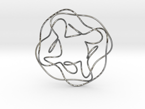 Quartic Knot in Polished Silver