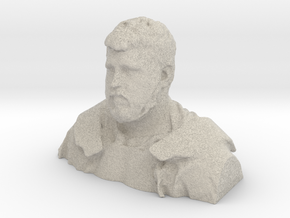 Demo H, Bust, 1/10th Scale - Sandstone,White in Natural Sandstone