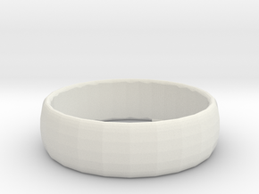 1001 facets braclet in White Natural Versatile Plastic