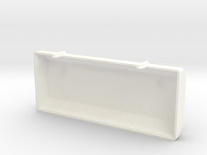 Toolbox Lid in White Processed Versatile Plastic