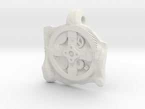Antikythera Mechanism Pendant in White Natural Versatile Plastic