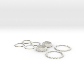 nest of bracelets in White Natural Versatile Plastic