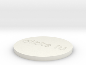 by kelecrea, engraved: dikke lu  in White Natural Versatile Plastic