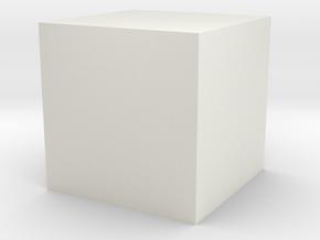 CoCreator Cube in White Natural Versatile Plastic