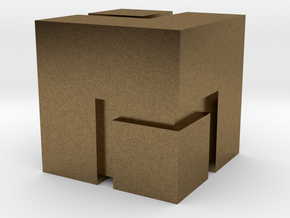 (FEZ) Mini Cube 2x2 in Natural Bronze