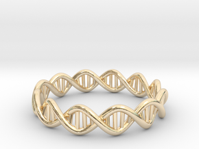 The Ring Of Life DNA Molecule Ring in 14K Gold: 7.5 / 55.5