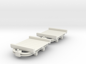 O9 skip with flat body  in White Natural Versatile Plastic
