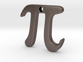 Pi in Polished Bronzed Silver Steel