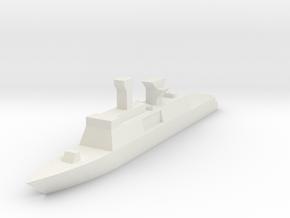 French, La Fayette class in White Natural Versatile Plastic