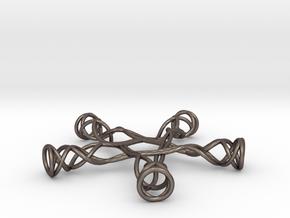 Pentagonal Knot in Polished Bronzed Silver Steel