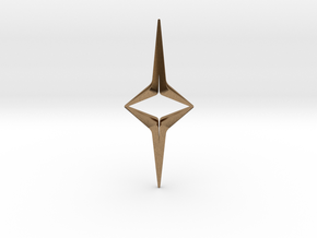 YOUNIVERSAL Sharp Duo, Pendant in Natural Brass