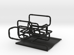 Pipe System in Black Strong & Flexible