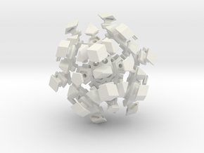 Mini-Megaminx (22mm sides) in White Natural Versatile Plastic