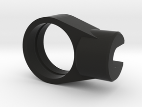 Recurve Aperture Housing 1/2 Inch for O-Rings Only in Black Natural Versatile Plastic
