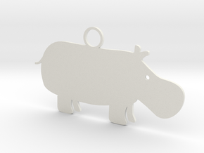 Wildlife Treasures - Hippo in White Natural Versatile Plastic