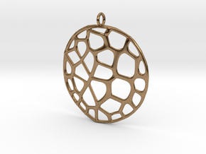 Exteriority Pendant in Natural Brass