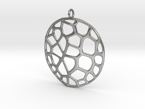 Exteriority Pendant in Natural Silver