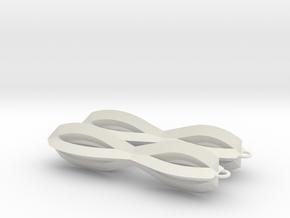 Sharp Earrings in White Natural Versatile Plastic