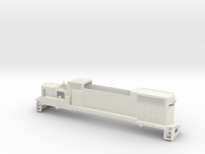 GP38 2 Locomotive Body Only Gauge 1 in White Natural Versatile Plastic