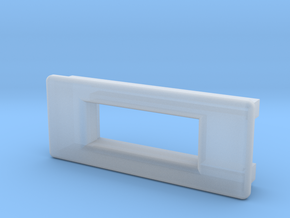 Screen Cradle - Rectangle with Filet Edges in Smooth Fine Detail Plastic