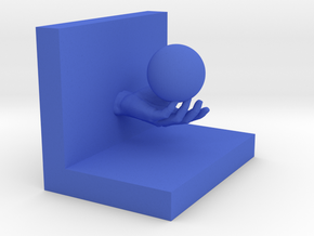 Bookend in Blue Processed Versatile Plastic