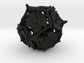 Botanical d12 (Maple) in Black Natural Versatile Plastic