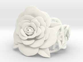 Rose Bracelet in White Strong & Flexible Polished