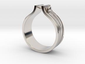 WOOD & NAIL Ring in Platinum