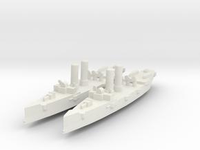 USS Montgomery (1890) 1:1800 x2 in White Natural Versatile Plastic