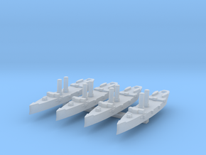 USS Montgomery (1890) 1:6000 x4 in Smooth Fine Detail Plastic