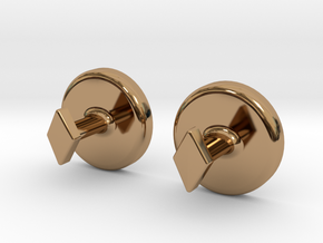 Yinyang Cuff Links - Large in Polished Brass