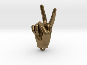 Hand pendant 30mm in Natural Bronze