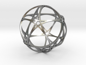 Pentragram Dodecahedron 1 (narrowest) in Natural Silver