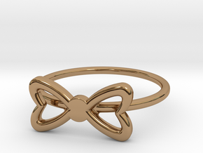 Knuckle Bow Ring, subtle and chic. in Polished Brass