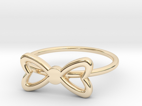 Knuckle Bow Ring, subtle and chic. in 14K Yellow Gold