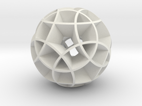 Rhombicosidodecahedron (wide) in White Natural Versatile Plastic