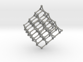 Face Centered Cubic (Diamond) Crystal Structure in Natural Silver