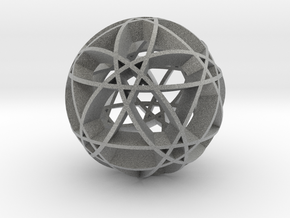 Pentragram Dodecahedron 2 in Metallic Plastic