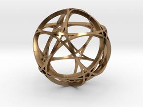 Pentagram Dodecahedron 1 (narrow, medium) in Natural Brass