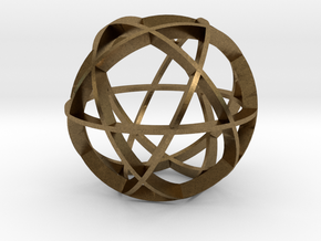 Icosidodecahedron (narrow) in Natural Bronze