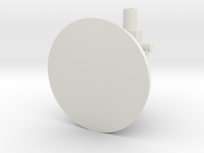 Cannon Emplacement in White Natural Versatile Plastic