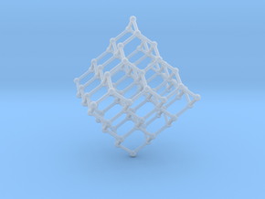 Face Centered Cubic (Diamond) Crystal Structure in Smooth Fine Detail Plastic