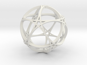 Pentagram Dodecahedron 1 (narrow, medium) in White Natural Versatile Plastic