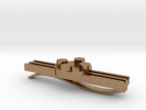 Brick Tie Clip- 4 Stud Type II in Natural Brass