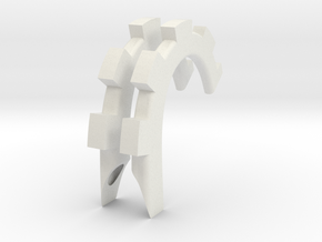 "Gear Horns 6"" in White Natural Versatile Plastic"