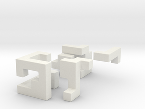 Coherence tiny in White Natural Versatile Plastic
