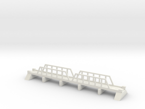 1/700 Steel Girder Road Bridge in White Natural Versatile Plastic